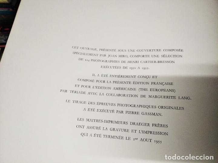 Libros de segunda mano: LES EUROPÉENS . PHOTOGRAPHIES PAR HENRI CARTIER-BRESSON. 1ª EDICIÓN 1955. PORTADA : JOAN MIRÓ - Foto 5 - 216736573