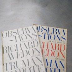 Libros de segunda mano: EXCEPCIONAL LIBRO DE RICHARD AVEDON Y TRUMAN CAPOTE PUBLICADO EN SUIZA EN 1959 POR TAN SÓLO 200 EURO. Lote 217267230