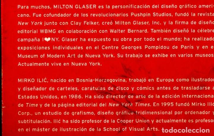 Libros de segunda mano: MILTON GLASER / MIRNO ILIC : DISEÑO DE PROTESTA (GILI, 2006) - Foto 3 - 217964045