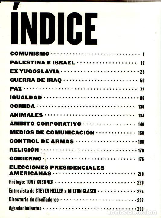 Libros de segunda mano: MILTON GLASER / MIRNO ILIC : DISEÑO DE PROTESTA (GILI, 2006) - Foto 5 - 217964045