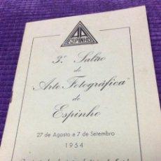 Libros de segunda mano: 3.º SALÃO DE ARTE FOTOGRÁFICA DE ESPINHO, 27 DE AGOSTO A 7 DE SETEMBRO, 1954. EN PORTUGUÉS.. Lote 218048277