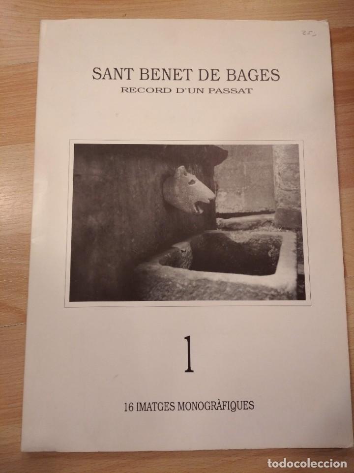 'SANT BENET DE BAGES. RECORD D'UN PASSAT'. 16 IMATGES MONOGRÀFIQUES' (Libros de Segunda Mano - Bellas artes, ocio y coleccionismo - Diseño y Fotografía)
