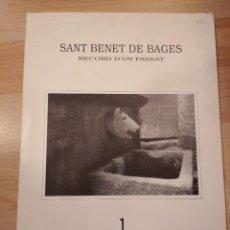Libros de segunda mano: 'SANT BENET DE BAGES. RECORD D'UN PASSAT'. 16 IMATGES MONOGRÀFIQUES'. Lote 218082982