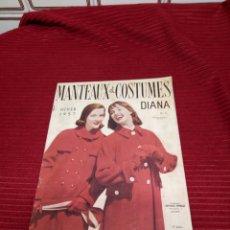 Libros de segunda mano: INTERESANTE REVISTA DE MODA MANTEAUX ET COSTUMES. HIVER 1957. Lote 219462445