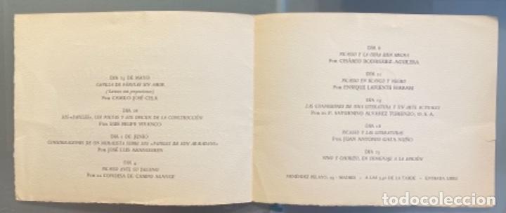 Libros de segunda mano: Invitación para la presentación del libro Gavilla de Fábulas sin Amor de Camilo José Cela y Picasso - Foto 2 - 220459573