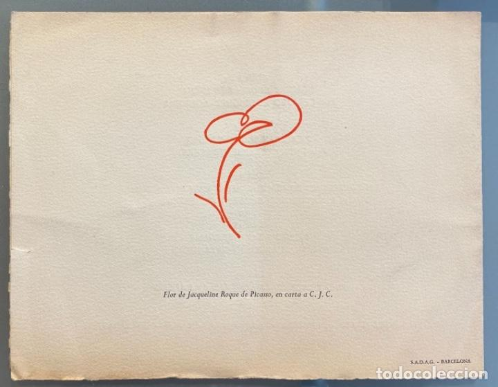 Libros de segunda mano: Invitación para la presentación del libro Gavilla de Fábulas sin Amor de Camilo José Cela y Picasso - Foto 3 - 220459573