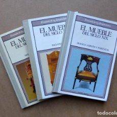 Libros de segunda mano: EL MUEBLE DEL SIGLO XIX Y XX - MODERNISMO, INGLATERRA, FRANCIA, ESPAÑA, PORTUGAL - (3 VOLÚMENES). Lote 220684697