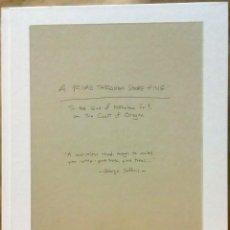Libros de segunda mano: ROBERT ADAMS - A ROAD THROUGH SHORE PINE. FRAENKEL GALLERY, 2014.. Lote 221775805