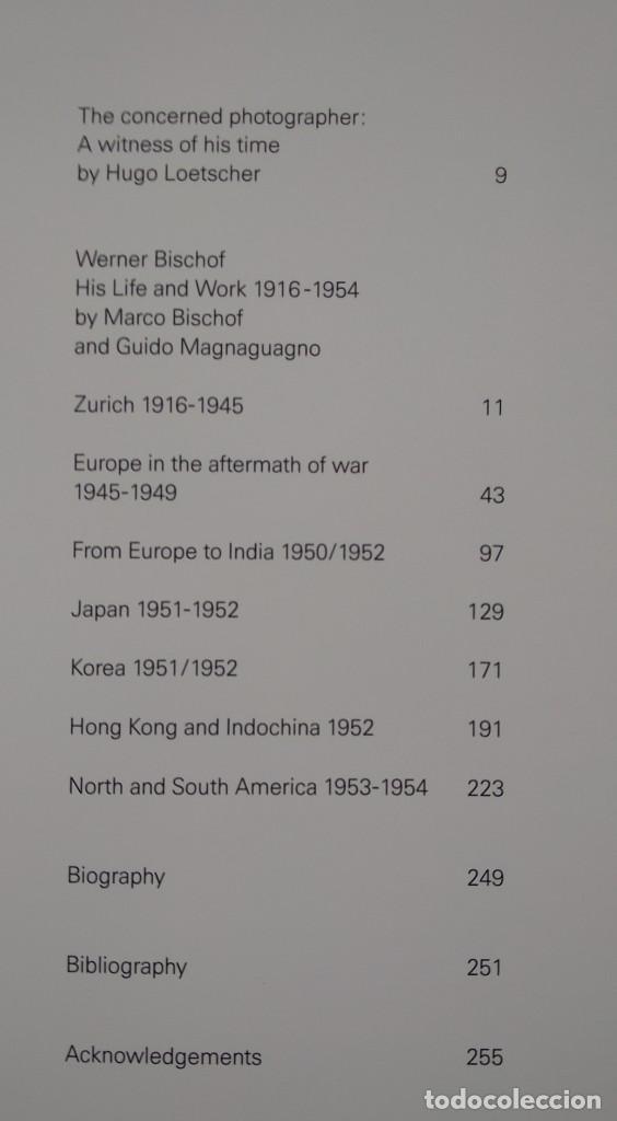 Libros de segunda mano: WERNER BISCHOF 1916-1954 -- HIS LIFE AND WORK - Foto 8 - 222834348
