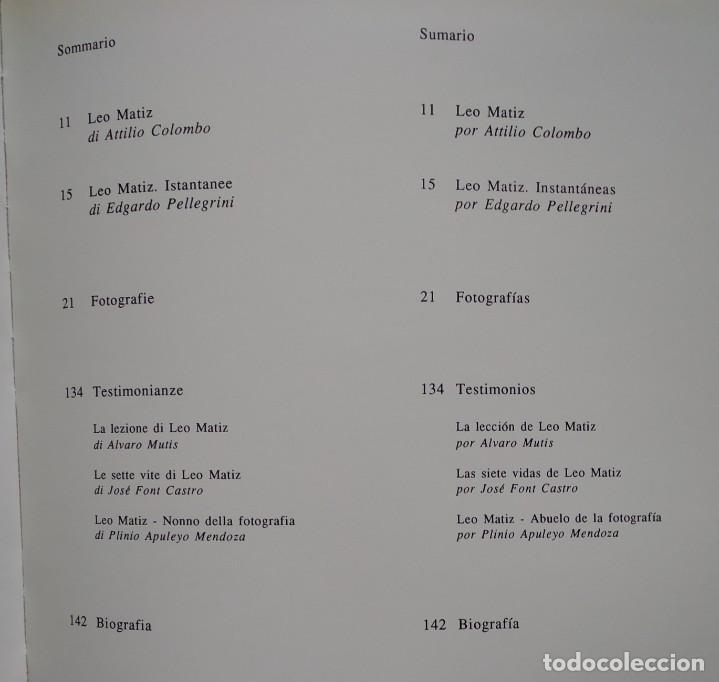 Libros de segunda mano: LEO MATIZ -- FOTOGRAFIE - Foto 7 - 222835492