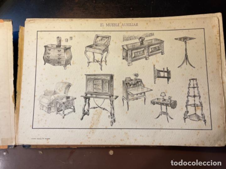 Libros de segunda mano: EL MUEBLE AUXILIAR LIBRO CATÁLOGO COMPLETO CON LAS 25 LÁMINAS MED.: 31X21 CMS. (T1) - Foto 2 - 236552025