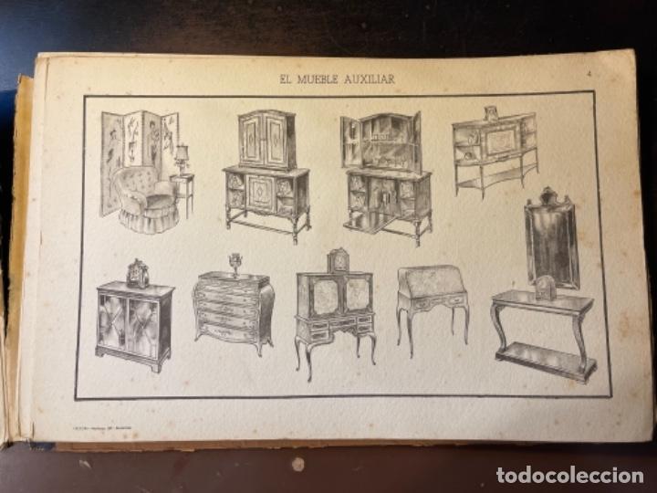 Libros de segunda mano: EL MUEBLE AUXILIAR LIBRO CATÁLOGO COMPLETO CON LAS 25 LÁMINAS MED.: 31X21 CMS. (T1) - Foto 5 - 236552025