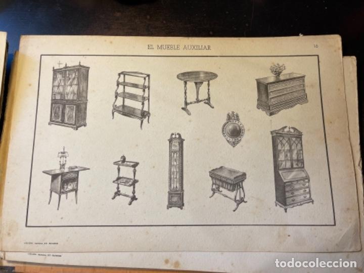 Libros de segunda mano: EL MUEBLE AUXILIAR LIBRO CATÁLOGO COMPLETO CON LAS 25 LÁMINAS MED.: 31X21 CMS. (T1) - Foto 8 - 236552025