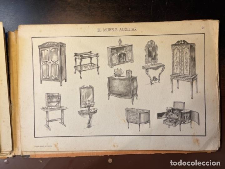 Libros de segunda mano: EL MUEBLE AUXILIAR LIBRO CATÁLOGO COMPLETO CON LAS 25 LÁMINAS MED.: 31X21 CMS. (T1) - Foto 9 - 236552025