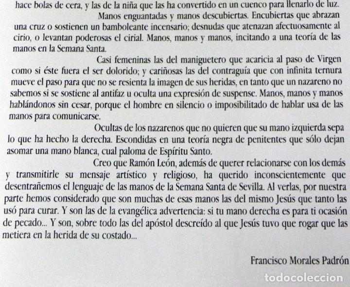 Libros de segunda mano: SEVILLA TEMPLO DE LUZ - LIBRO RAMÓN LEÓN FOTOGRAFÍAS - LA SEMANA SANTA FOTOS ARTE RELIGIÓN CRISTIANA - Foto 3 - 237532780