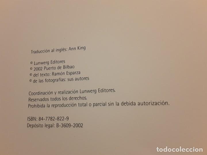 Libros de segunda mano: Puerto de bilbao (Una memoria visual), de Ramon esparza. Magnifico estado. Lunwerg 2002. Gran format - Foto 2 - 239611045