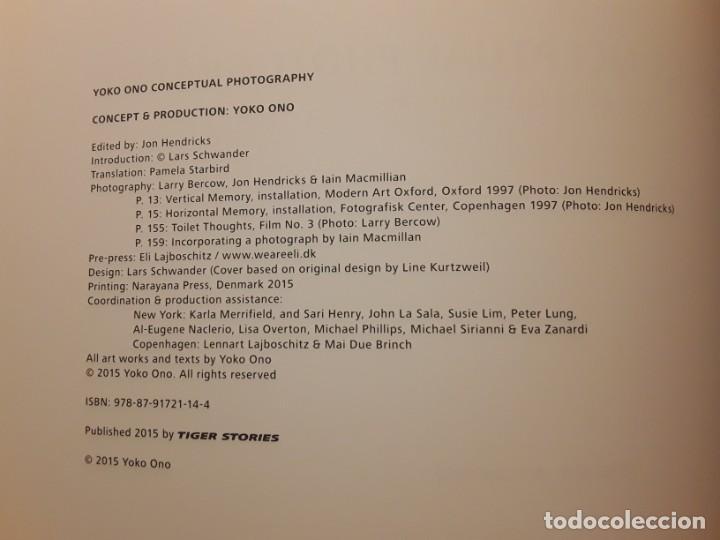 Libros de segunda mano: Conceptual photography, de Yoko Ono. Excelente estado. En inglés - Foto 2 - 242405220