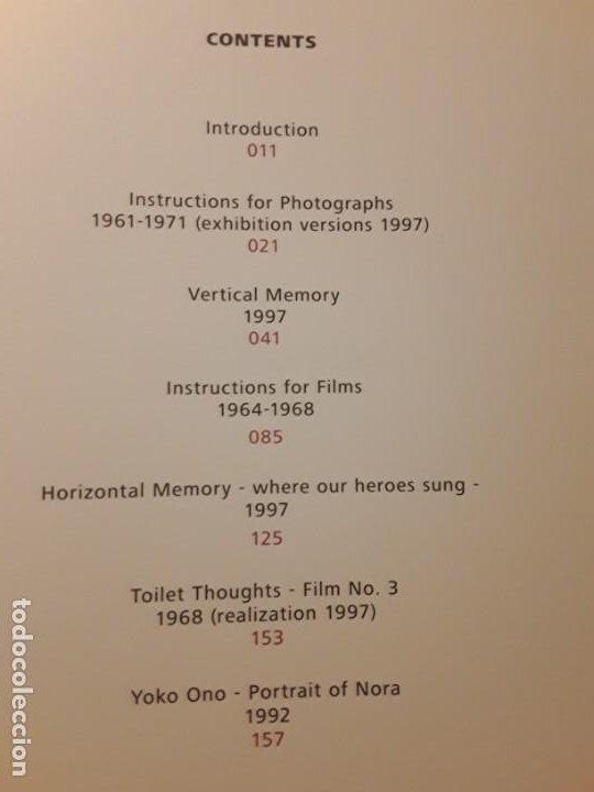 Libros de segunda mano: Conceptual photography, de Yoko Ono. Excelente estado. En inglés - Foto 3 - 242405220