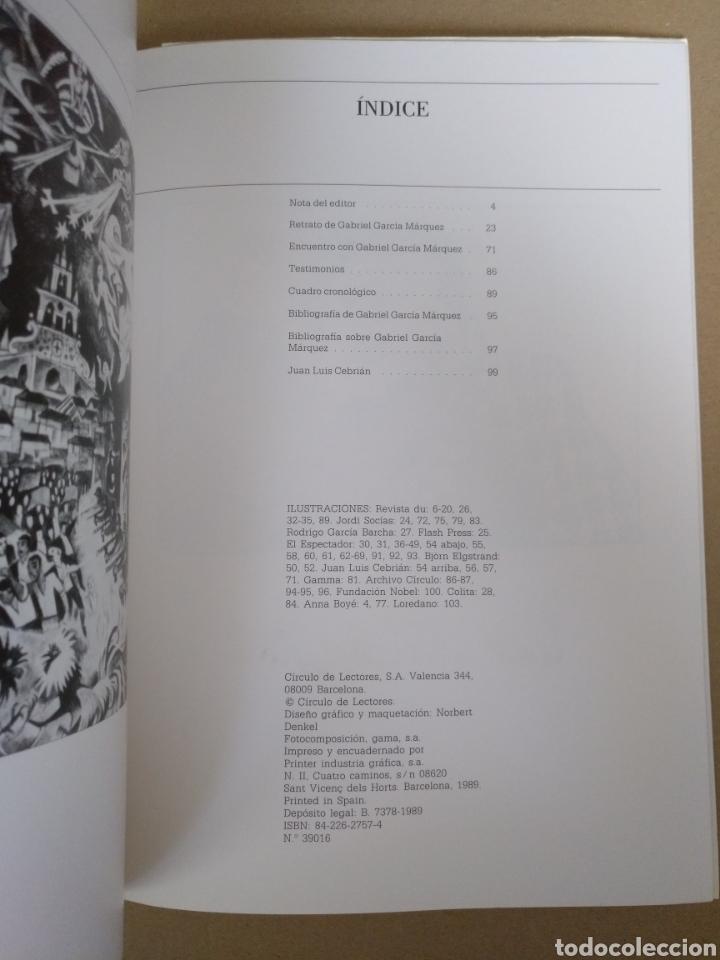 Libros de segunda mano: Retrato de Gabriel García Márquez. Juan Luis Cebrián. Galería de grandes contemporáneos. Libro - Foto 7 - 244712800