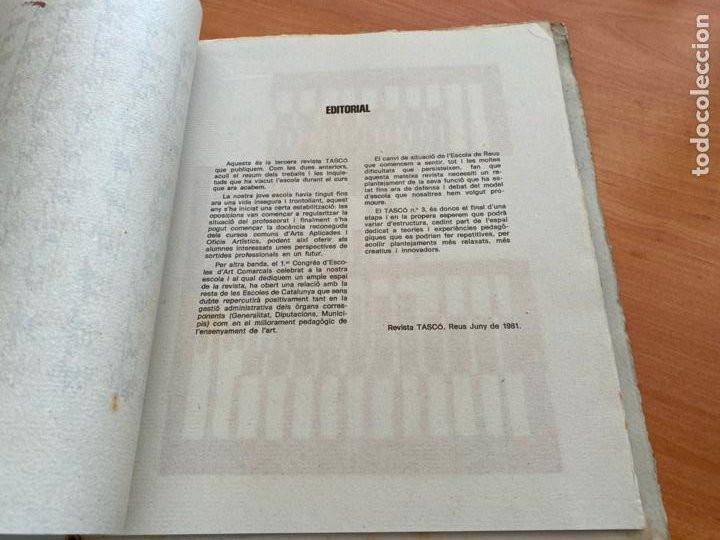 Libros de segunda mano: TASCO ESCOLA TALLER COMUNICACIO 3. EDICION LIMITADA 250 EJEMPLARES REUS 1981 (AB-3) - Foto 11 - 244721170