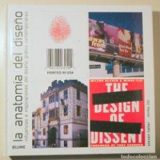 Libros de segunda mano: HELLER, STEVEN - LA ANATOMÍA DEL DISEÑO - BARCELONA 1998 - MUY ILUSTRADO. Lote 245912345