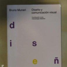 Livres d'occasion: DISEÑO Y COMUNICACIÓN VISUAL: CONTRIBUCIÓN A UNA METODOLOGÍA DIDÁCTICA.- MUNARI, BRUNO. Lote 254377885