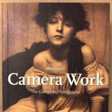 Libros de segunda mano: CAMERA WORK (THE COMPLETE PHOTOGRAPHS 1903-1917).ALFRED STIEGLITZ. ED. TASCHEN 2008. Lote 168366256