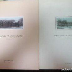 Livres d'occasion: MEMORIA DE VALDEMORO. I Y II. Lote 263292820