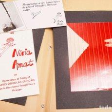 Libros de segunda mano: NURIA AMAT GARCÍA - FOTOGRAFÍA - LOTE DE FOTOGRAFÍAS ORIGINALES Y DOCUMENTACIÓN. Lote 269069573