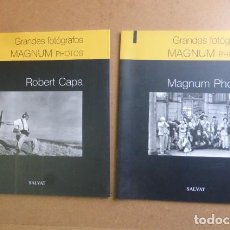 Libros de segunda mano: GRANDES FOTOGRAFOS MAGNUM...ROBERT CAPA Y MAGNUM FOTOS...... Lote 270911973