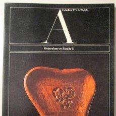 Libros de segunda mano: A. ESTUDIOS PRO ARTE 7/8. MODERNISMO EN ESPAÑA II - BARCELONA 1976 - MUY ILUSTRADO. Lote 272420933