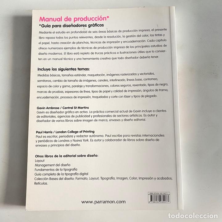 Libros de segunda mano: Libro manual de producción guía para diseñadores gráficos pad - Foto 2 - 288190023