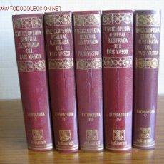 Enciclopedias de segunda mano: LITERATURA (5 TOMOS) ENCICLOPEDIA GENERAL ILUSTRADA DEL PAIS VASCO. .. EDIT. AUÑAMENDI. Lote 17789005