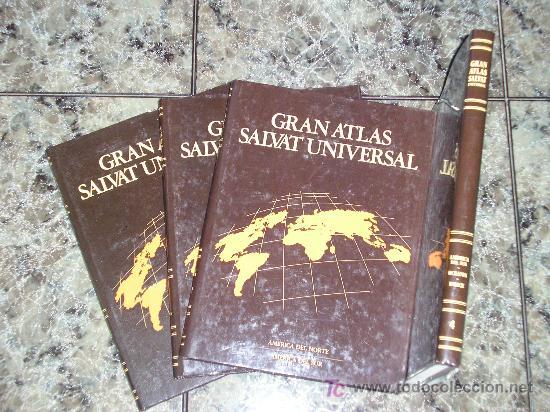 COLECCION DE 4 TOMOS GRAN ATLAS SALVAT UNIVERSAL - 1992 - COMO NUEVOS (Libros de Segunda Mano - Enciclopedias)