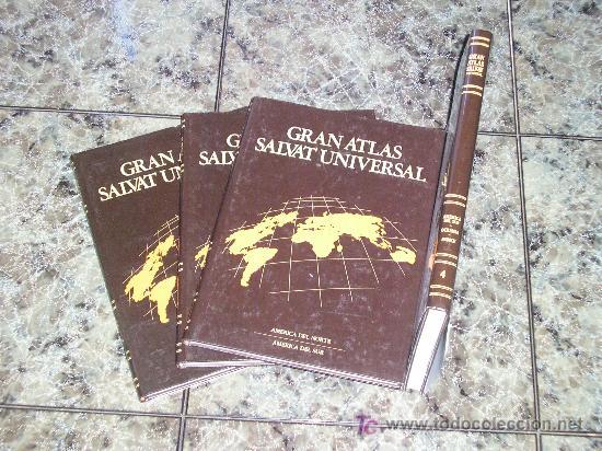 Enciclopedias de segunda mano: COLECCION DE 4 TOMOS GRAN ATLAS SALVAT UNIVERSAL - 1992 - COMO NUEVOS - Foto 2 - 16342981