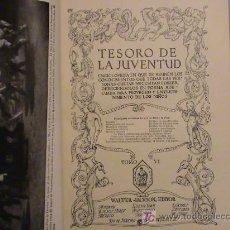 Enciclopedias de segunda mano - Tesoro de la juventud Tomo 6 - 16559696
