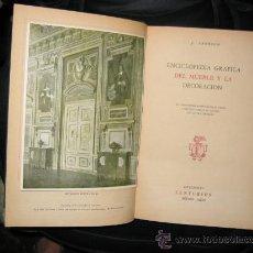 Enciclopedias de segunda mano: ENCICLOPEDIA GRÁFICA DEL MUEBLE Y LA DECORACIÓN. JOSEPH ARONSON. . Lote 27461100