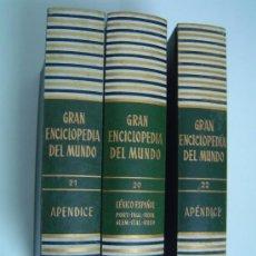 Enciclopedias de segunda mano: GRAN ENCICLOPEDIA DEL MUNDO TOMOS 20-21-22 EDICIONES DURVAN S,A BILBAO. Lote 24219899