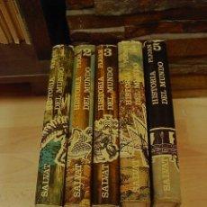 Enciclopedias de segunda mano - Historia del mundo, Pijoan, Salvat Ed. 10 ed. , 5 tomos, 1968 - 18733036