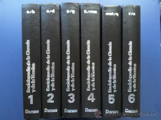 ENCICLOPEDIA DE LA CIENCIA Y DE LA TECNICA - COMPLETA 6 TOMOS - DANAE (Libros de Segunda Mano - Enciclopedias)