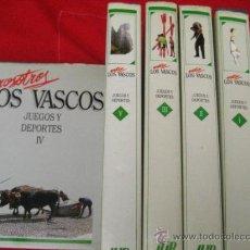 Libri di seconda mano: NOSOTROS LOS VASCOS JUEGOS Y DEPORTES - 5 TOMOS COMPLETAMENTE NUEVOS (. Lote 95946634