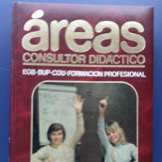 Enciclopedias de segunda mano: AREAS CONSULTOR DIDACTICO - MATEMATICAS. Lote 26387957