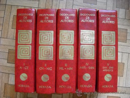 DICCIONARIO DE AUTORES BOMPIANI - HORA, 1988 - 5 TOMOS (Libros de Segunda Mano - Enciclopedias)