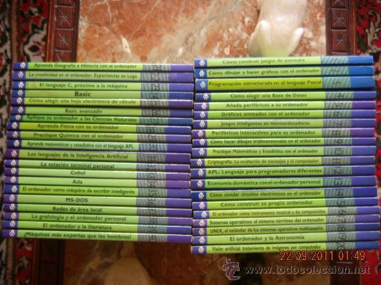 ENCICLOPEDIA PRÁCTICA DE LA INFORMÁTICA APLICADA - 40 LIBROS IMPECABLES. (Libros de Segunda Mano - Enciclopedias)