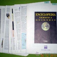Enciclopedias de segunda mano: ENCICLOPEDIA TEMÁTICA GUINNESS;FOLIO/BBV;1995(EN FASCÍCULOS SIN ENCUADERNAR). Lote 29632518