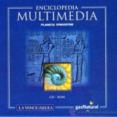 Enciclopedias de segunda mano: 12 CD-ROM ENCICLOPEDIA MÁS 5 CD-ROM ATLAS MULTIMEDIA - PLANETA DE AGOSTINI. Lote 32691879