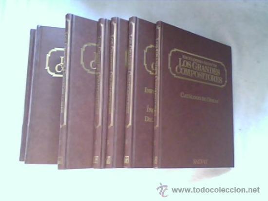 ENCICLOPEDIA SALVAT - LOS GRANDES COMPOSITORES - 7 VOLUMENES - (SIN GRABACIONES) (Libros de Segunda Mano - Enciclopedias)
