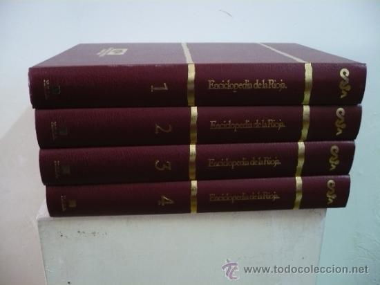 ENCICLOPEDIA DE LA RIOJA H.E.S.A. FRANCISCO MARTÍN LOSA. 4 TOMOS VOLUMENES. TDKLT1 (Libros de Segunda Mano - Enciclopedias)