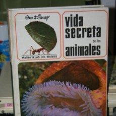 Enciclopedias de segunda mano: LIBRO MARAVILLAS DEL MUNDO VIDA SECRETA DELOS ANIMALES DISNEY AÑOS 70. Lote 34975145