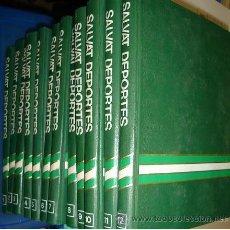 Enciclopedias de segunda mano: ENCICLOPEDIA SALVAT DE LOS DEPORTES, 12 TOMOS, BARCELONA 1976. Lote 111643562